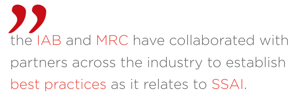 iab-mrc-ssai-industry-standards